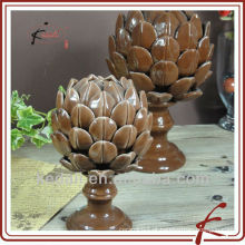 Home Cerâmica decoração de forma de alcachofra artwork BD137B