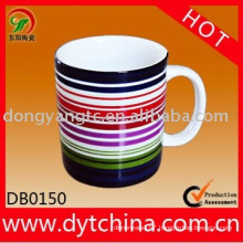 Promotional ceramic mug with decal printing . ceramic mug factory