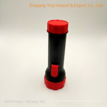 2*D Size Dry Battery Plastic Material LED Torch Flashlight for African Market