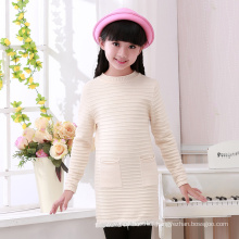 hot sale latest pure color heavy wool sweater design for girl