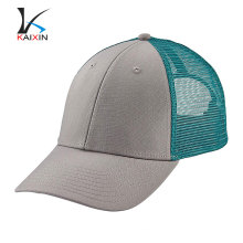 custom fashion high quality cheap 6 panel plain pre-curved brim blank mesh baby funny blue snapback baseball trucker cap