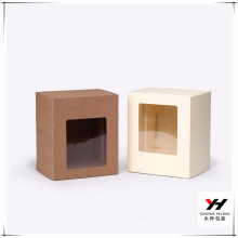 New Customized Kraft Paper Sliding Drawer Gift Box with PVC Clear Window