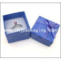 Cardboard Set up Ring Packaging Gift Box with Velvet Insert