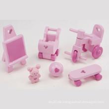 Holz Mini Möbel Spielzeug Baby Spielzeug Zimmer Zubehör