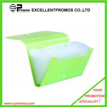 Bolsa de archivo de plástico de expansión más venta con botón (EP-F0901)