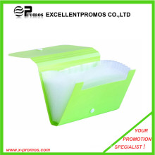 Most Selling Expandable Plastic File Bag with Button (EP-F0901)