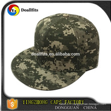 Custom 2015 nouvelle mode 6 panneau unisex gender camo snapback cap