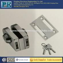 stainless steel fabrication brass lock core single glass door double lock head