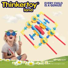 Brinquedo educativo plástico do enigma para blocos de construção dos miúdos