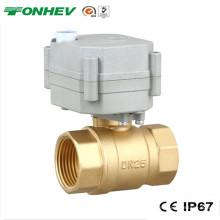 Válvula de encendido y apagado motorizado de 2 vías de latón eléctrico para riego automático (T25-B2-B)