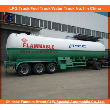 Heavy Duty 59.52cbm LPG Bullet Tank Trailer 30tons for Philippines Market