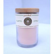 Vela de vidro com aroma perfumado como presente