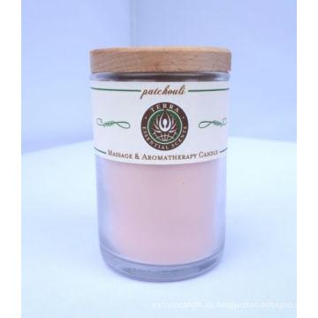 Vela aromática de tarro de cristal como regalo