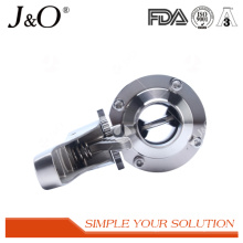 New Design Sanitary Weld Male Butterfly Valve with Ss Handle