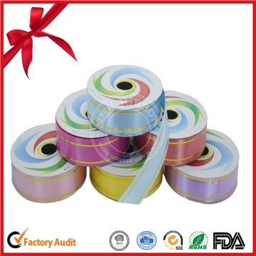 Factory 100% Polyester Gold Strip Ribbon Roll