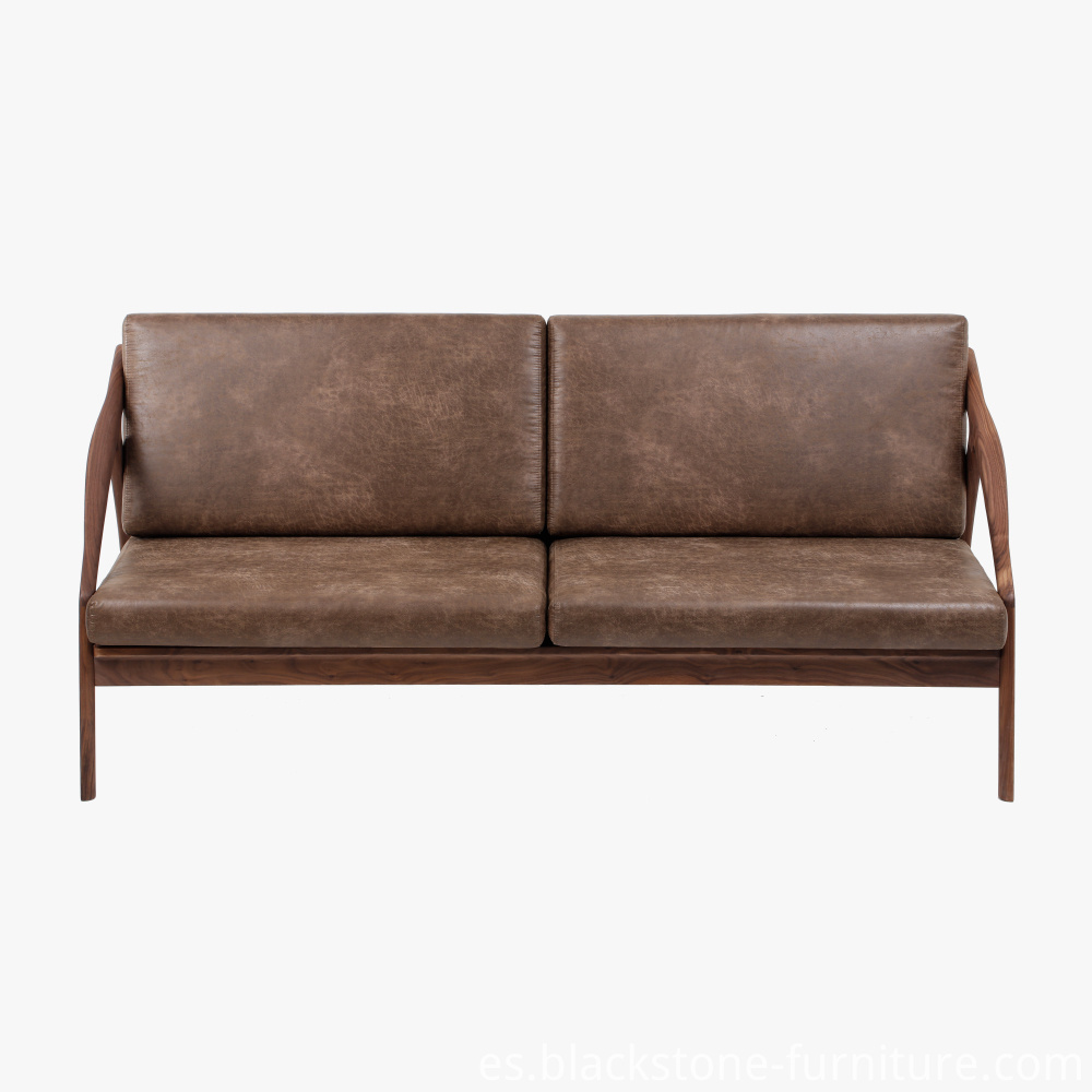 Leather Wooden Sofa