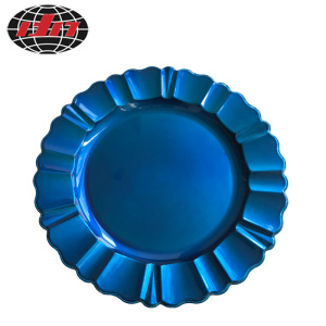Blue Lacework Plastic Charger Plate