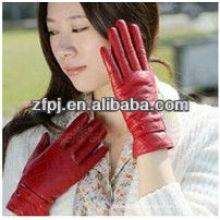 2012 Frauen Schaffell Winter Kleid Leder Handschuhe in Europa