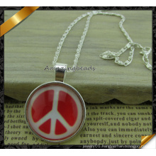 Manufacturer Supply Peace Charms Pendant Necklace Jewelry (FN034)