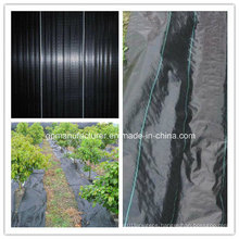 Black 90GSM PP Woven Geotextile Fabric