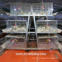 Ensemble complet de haute résistance de cage de poulet d'oeuf pour la personnalisation