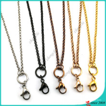 Fashion Stainless Steel Rolo Chain for Floating Locket (FN16041801)