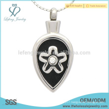 Black and silver ashes pendant,memorial cremation keepsakes jewelry for ashes