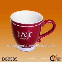 Logotipo personalizado personalizado vitrificada xícara de café de cerâmica