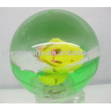 85mm Fish Light Flash Glitter Led Bounce Ball