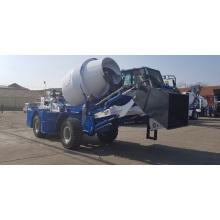 Mini camión hormigonera con bomba para construcción.
