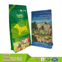 Bolso seco de encargo del alimento de perro del alimento para animales del empaquetado de encargo del escudete lateral con la cerradura de la cremallera