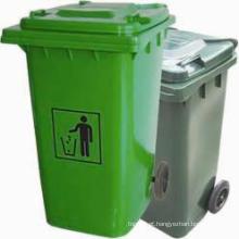 Caixote do lixo plástico com roda de alta qualidade ao ar livre