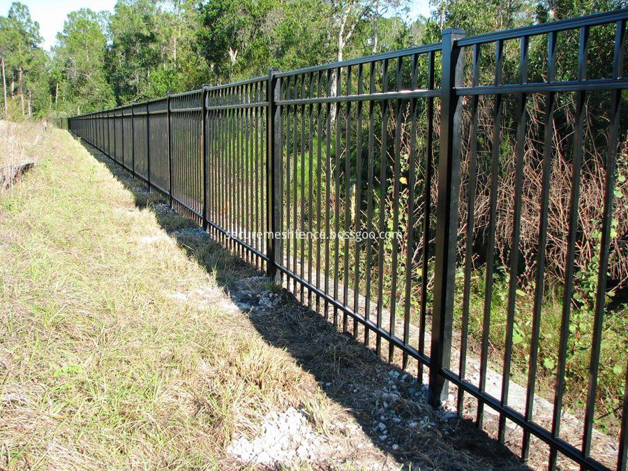 flat top steel fence