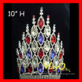 Los nuevos accesorios grandes del pelo de la princesa wedding el desfile corona con el cristal completo