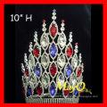Les plus récents gros accessoires pour cheveux de princesse couronnes de concours de mariage avec plein cristal