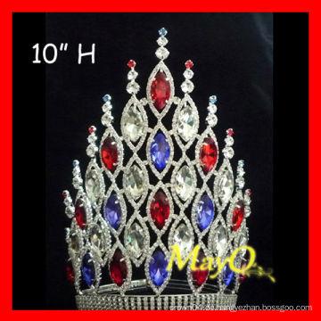 Neueste große Prinzessin Haar Zubehör Hochzeit Festzug Kronen mit voller Kristall