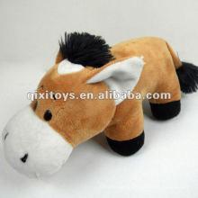 lindo burro de brinquedo de boca grande de pelúcia