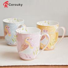 La insignia de encargo imprimió BSCI SEDEX aprobó la taza cerámica de China del hueso