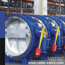 DIN/ANSI Double Flanged Hydraulic Counterweight Butterfly Valve