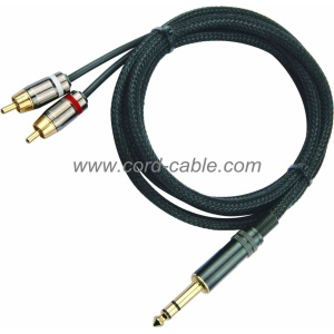 DR Series Dual RCA to Stereo Jack RCA Cable