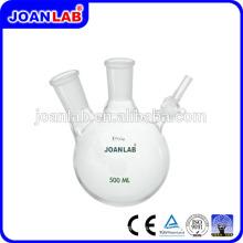 JOAN LAB Dos frascos de reacción de nitrógeno de cuellos con válvula de giro lateral