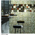 Amber Glass Mosaic Floor Tile