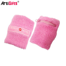 pink cotton terry sweatband cotton wristband and head band