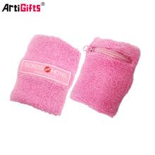 pink cotton terry sweatband cotton wristband and head band
