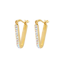 E-594 Xuping 2018 cheap wholesale jewelry simple design Rhinestone hoop Earrings