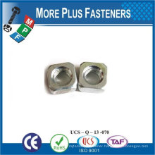 Made in Taiwan stainless steeel M6-1.0 Class 5 Zinc Finish Steel Regular Square Nut DIN 557 DIN 562 square nut