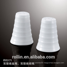 High Quality Hotel Porcelain Pepper Shaker Ceramic Salt &amp