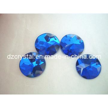 Forma redonda vidro strass