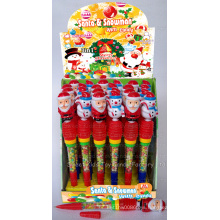Whistle Santa and Snowman Pen Toy Candy (100502)