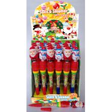 Assobio santa e boneco de neve caneta brinquedo doces (100502)